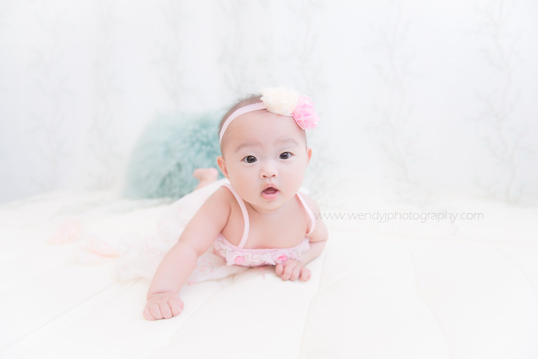 6 month old baby girl baby portrait session by Wendy J Photography, Vancouver B.C.