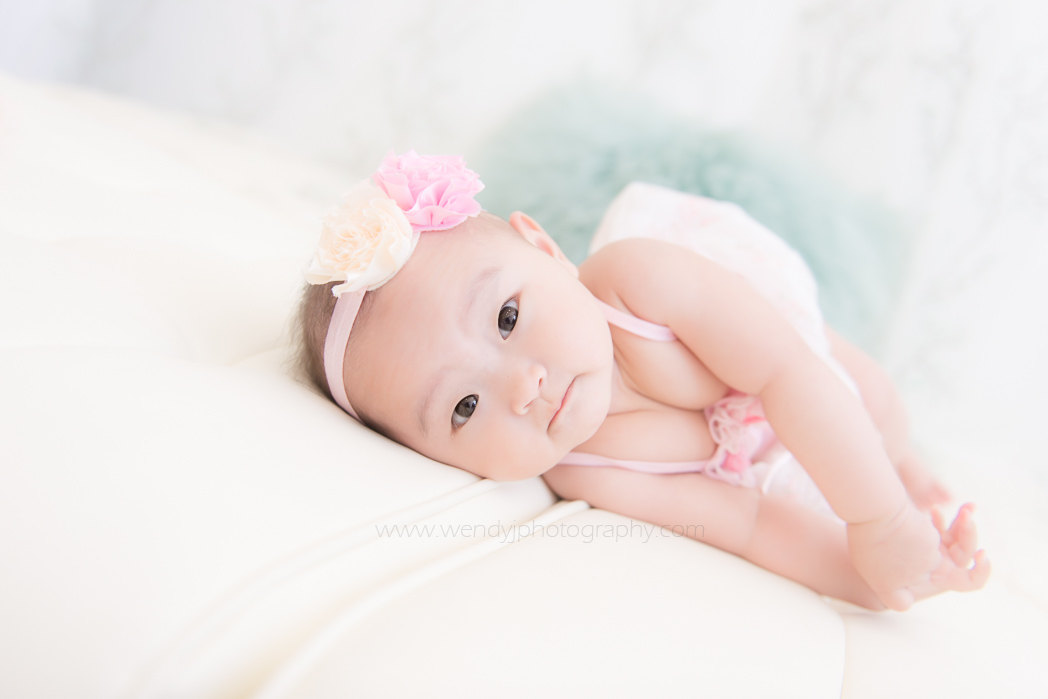 6 month old baby girl baby photography session by Wendy J Photography, Vancouver B.C.