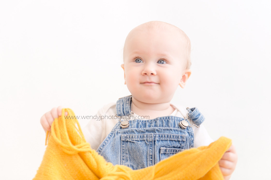 One year old child photography of Baby X, by Wendy J Photography, Vancouver B.C.