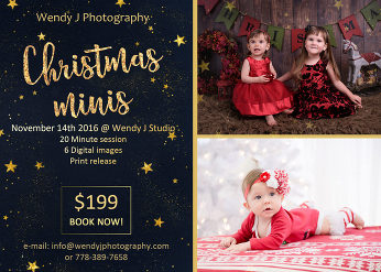 Holiday Mini Sessions at Wendy J Photography.